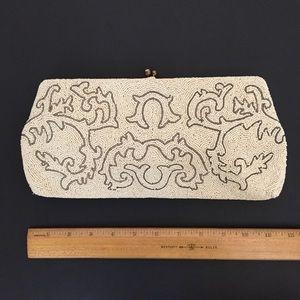 Vtg Beaded Clutch Cecile Made in Belgium Handbag